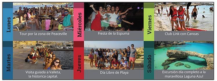 Actividades adultos Malta